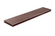 Террасная доска, ArtDeco, Темно-коричневый Шлифовка + Тиснение (стандарт), 4м.